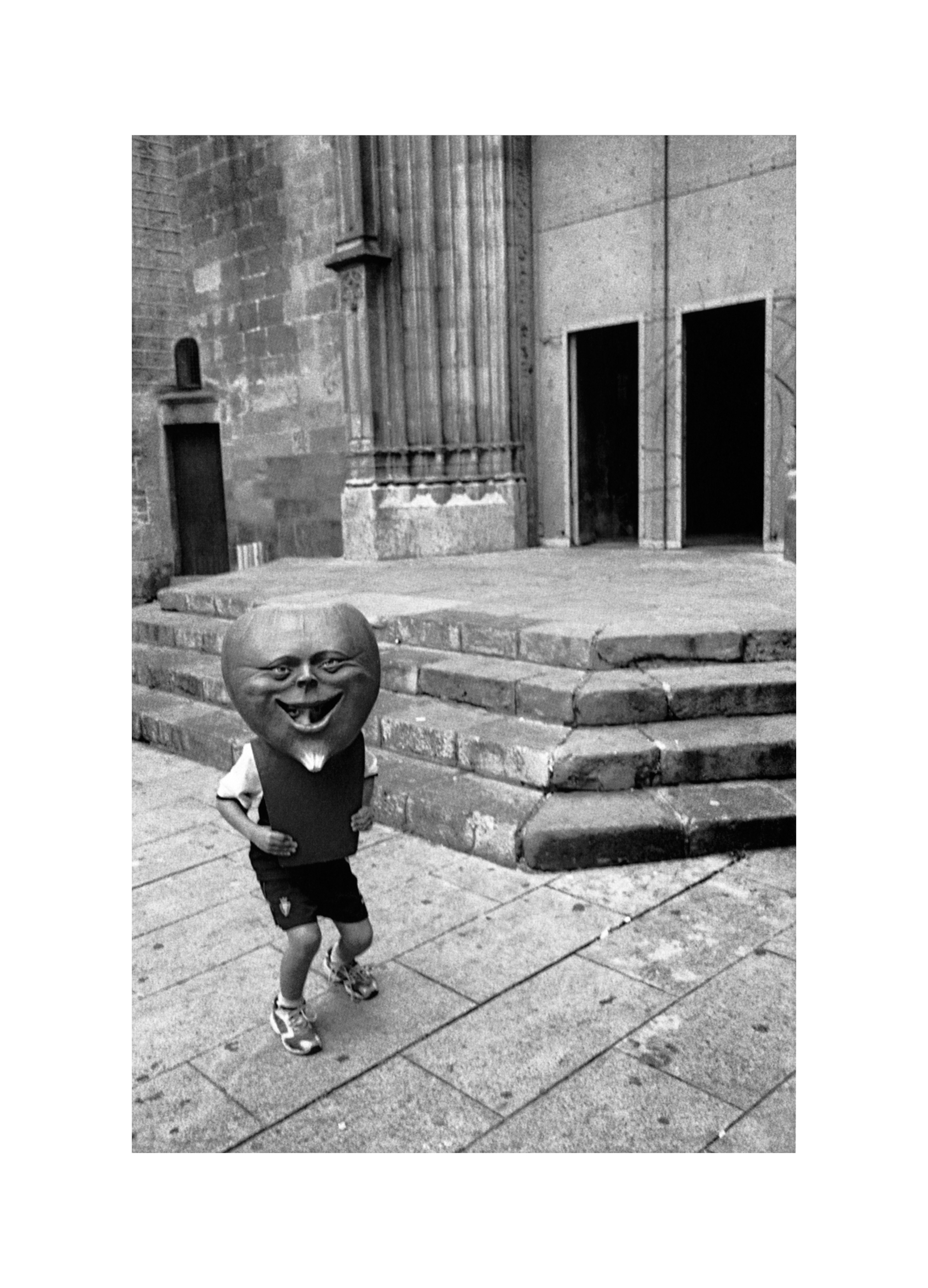 Image of Boy in Mask, Barcelona 2004 by David Peat