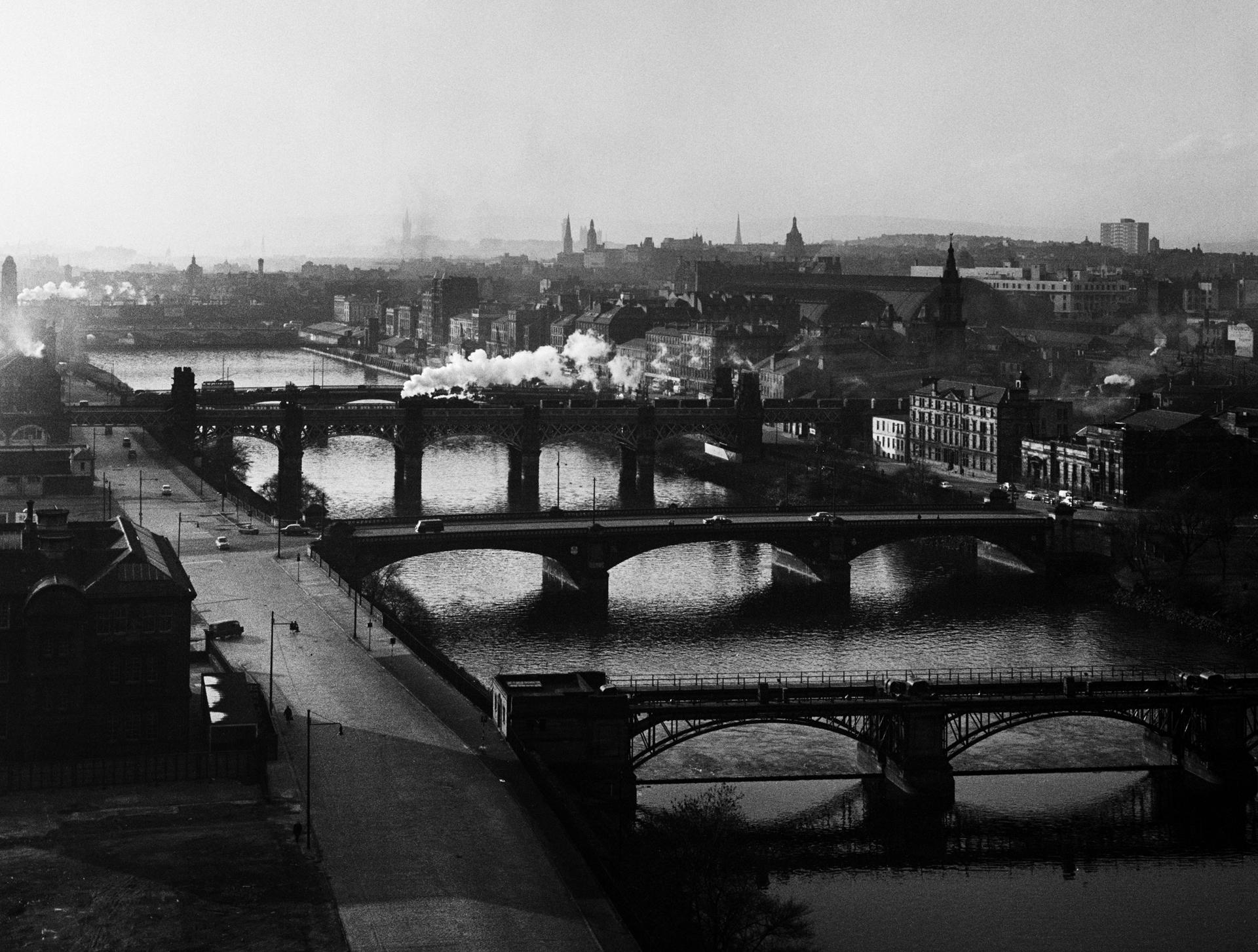 Image of Bridges over the River Clyde (1963) by Oscar Marzaroli