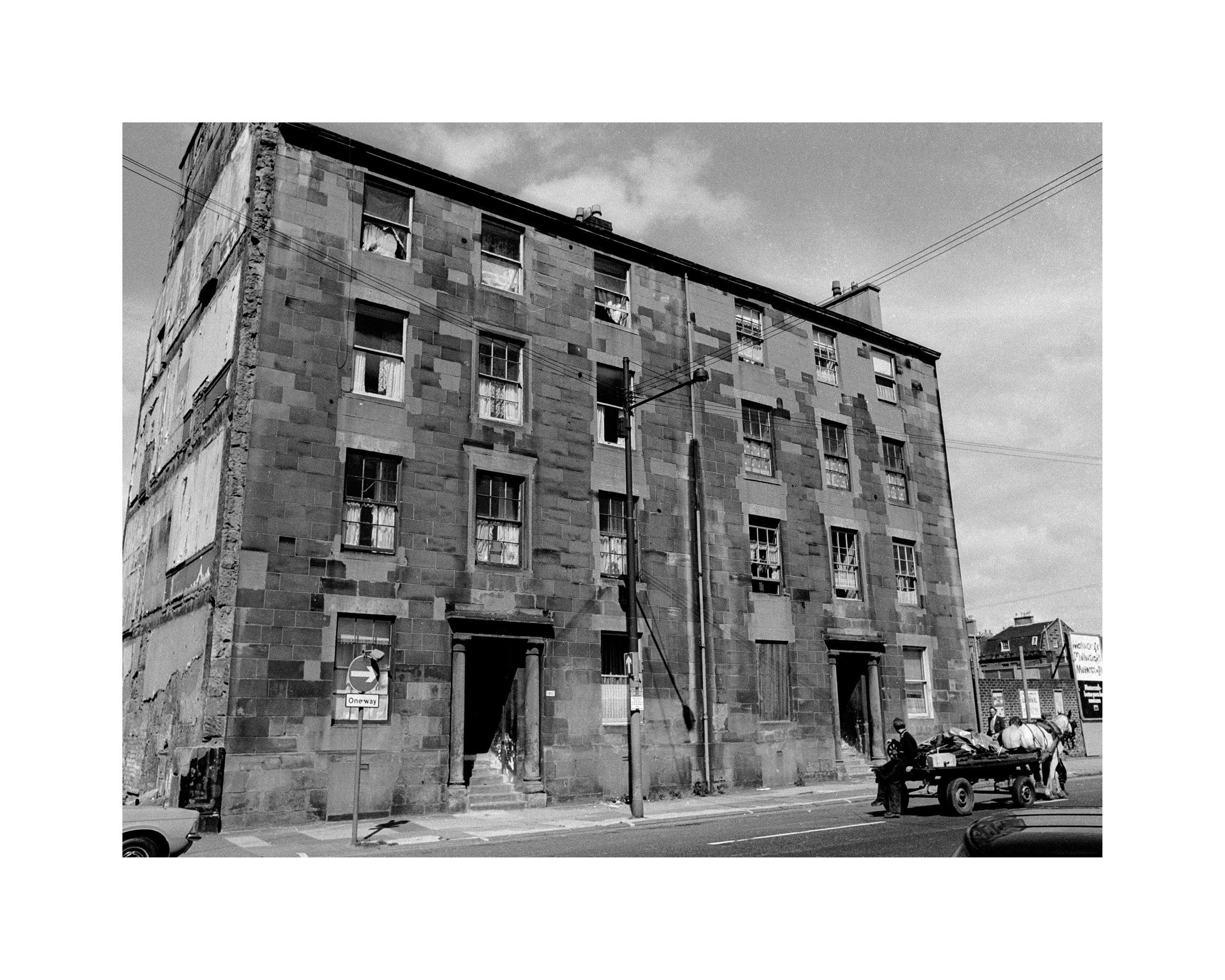 Image of Untitled, from 'Glasgow 1974'  (Tenement and Horse Car) by Hugh Hood
